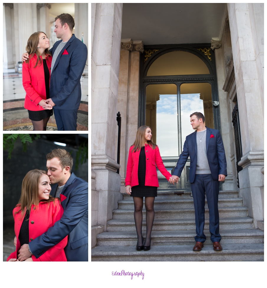 a temple bar engagement session paula and mike wedding