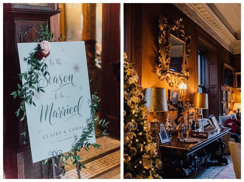 Claire and Cahal's winter wedding at Castle Leslie - Tanya Colclough - Eden Photography